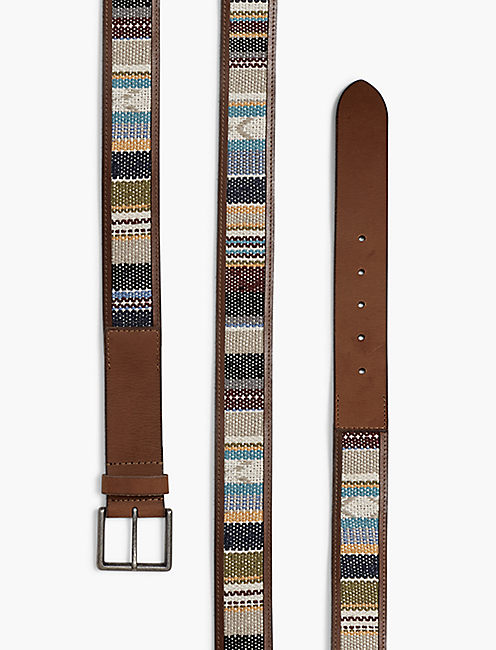 SERAPE LEATHER BELT,