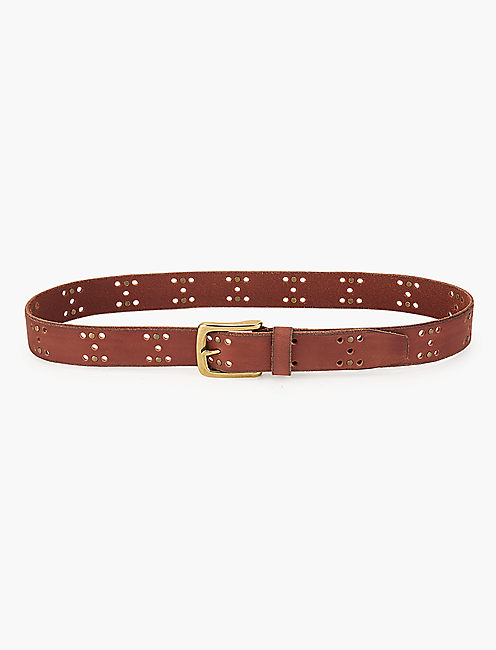 Lucky Perforation Stud Belt
