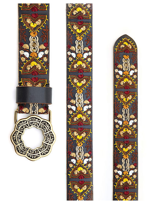 Lucky Marisa Embroidered Belt