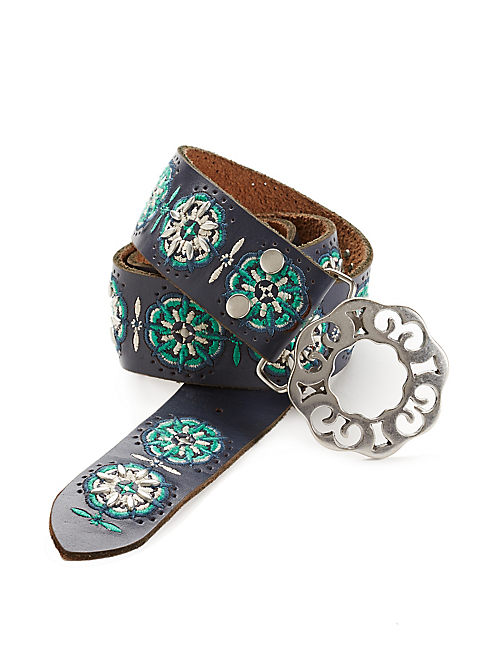EMBROIDERED STUD BELT,