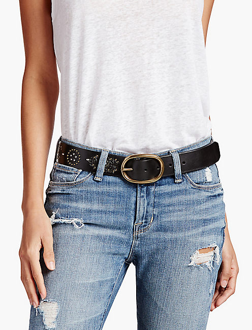 STUDDED BLACK BELT, BLACK