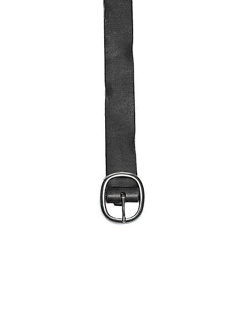 BASIC LEATHER BELT, BLACK