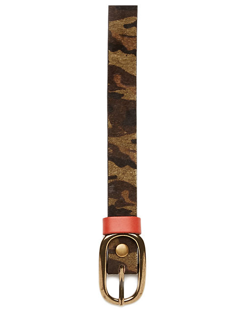 CAMO PRINT BELT, MEDIUM BROWN