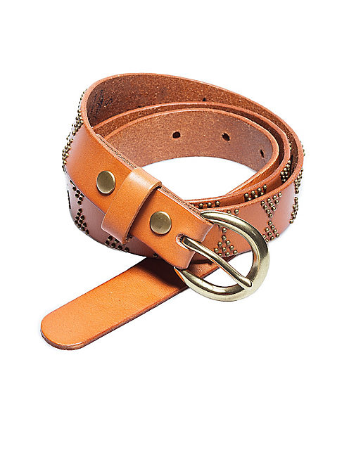MINI STUDS BELT, ALMOND