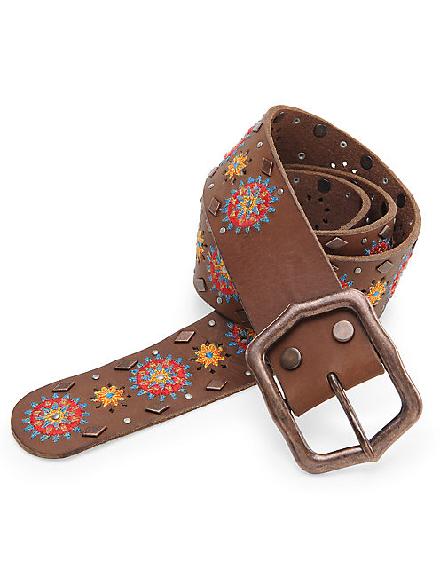 MOROCCAN STAR BELT, MEDIUM BROWN