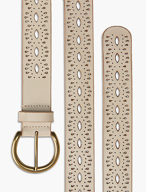 BEACHWOOD CUTOUT BELT, WHITE