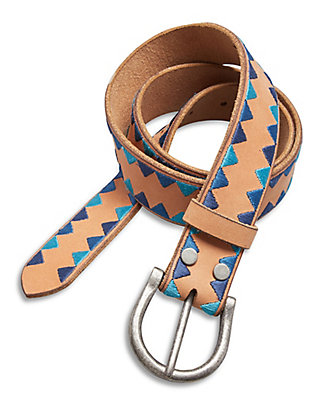 LUCKY TRIANGLE EMBROIDERED BELT