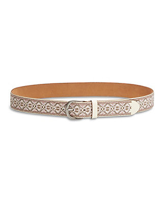 LUCKY CAMELIA EMBROIDERED BELT