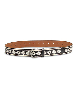 LUCKY PUNCH HOLE EMBROIDERED BELT