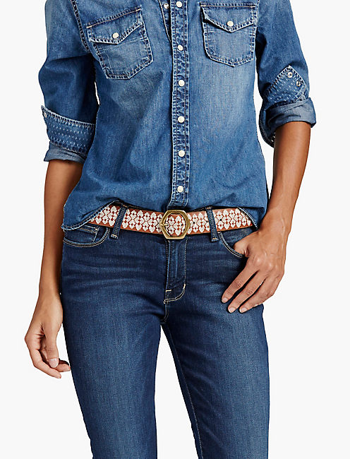 LUCKY SHELL EMBROIDERED BELT