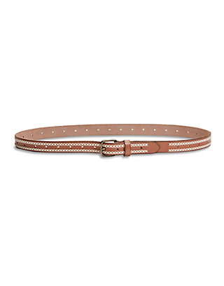 LUCKY DOUBLE BRAIDED STITCHED LEATHER BELT