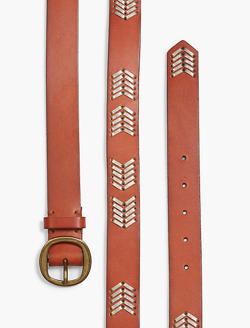 LACED CHEVRON BELT,
