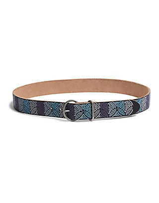 LUCKY OMBRE EMBROIDERED BELT