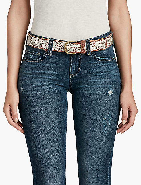 Lucky Floral Embroidered Belt