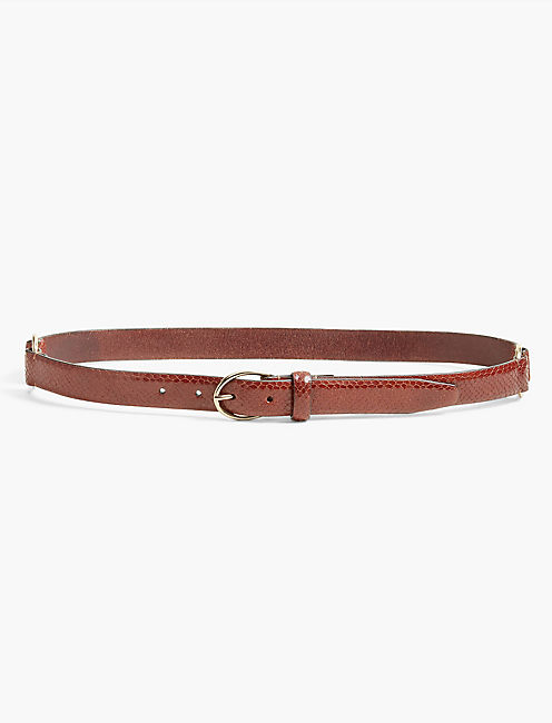 DRESSY LEATHER BELT, COGNAC