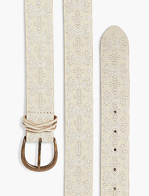 ANISE EMBROIDERED BELT, CREAM