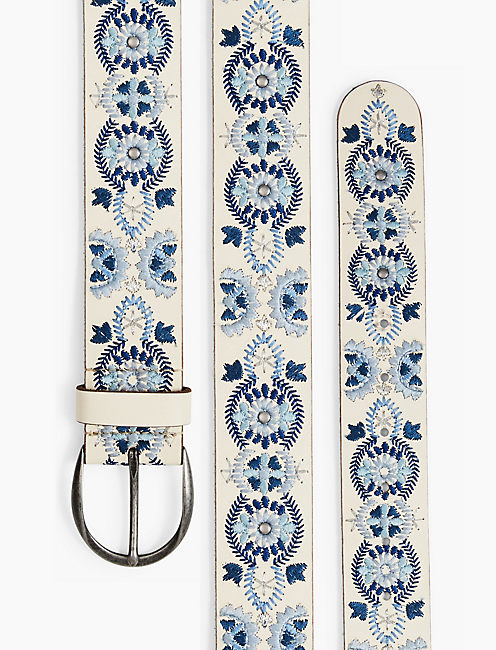 STUD EMBROIDERED BELT,