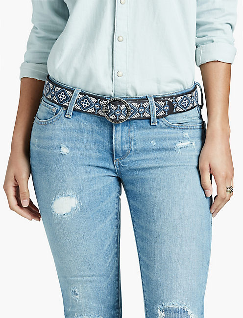 Lucky Diamond Embroidery Belt