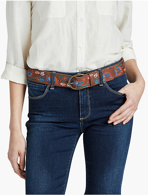 LUCKY PAISLEY EMBROIDERY BELT