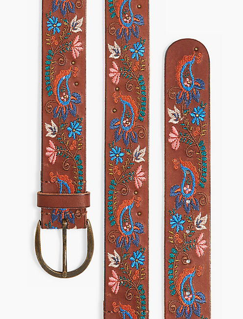 PAISLEY EMBROIDERY BELT,