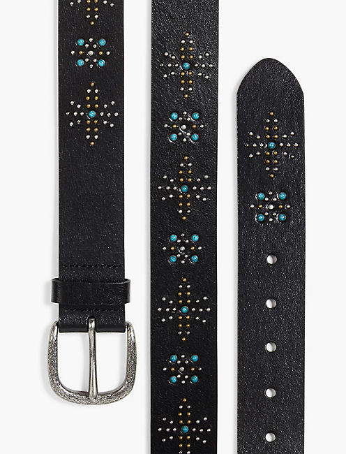 STUDDED MIX BELT, BLACK