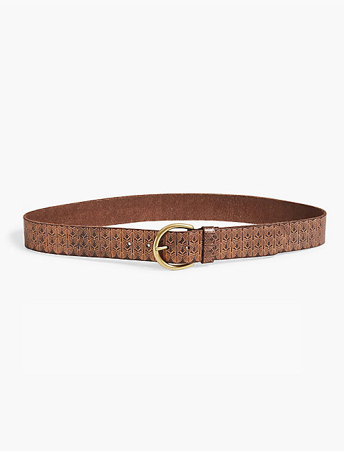 METALLIC EMBOSSED BELT,