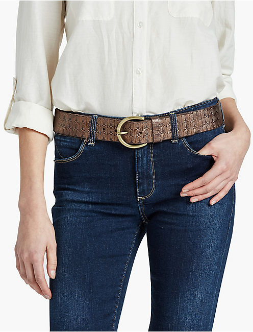LUCKY METALLIC EMBOSSED BELT