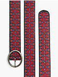 RED EMBROIDERY BELT,