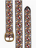 TILE EMBROIDERED BELT, MULTI