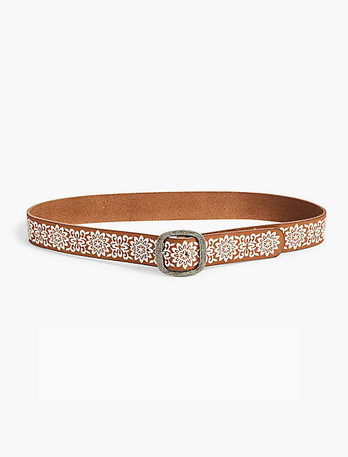 FLORAL EMBROIDERED BELT,