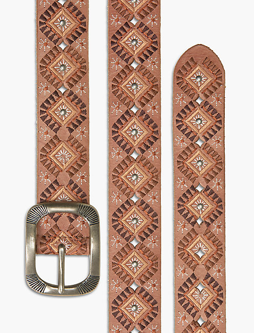 DIAMOND EMBROIDERED BELT,