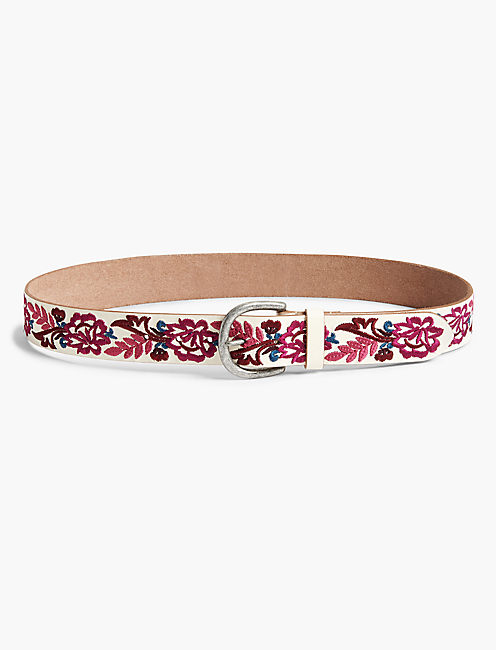 CERISE FLORAL BELT, MULTI