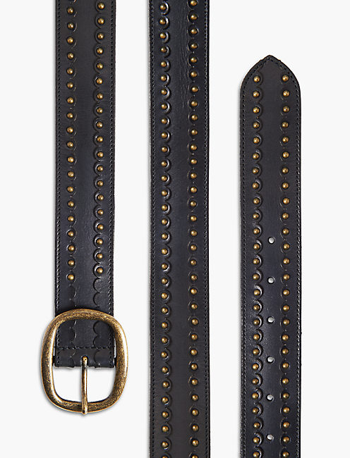 SCALLOP STUD BELT,