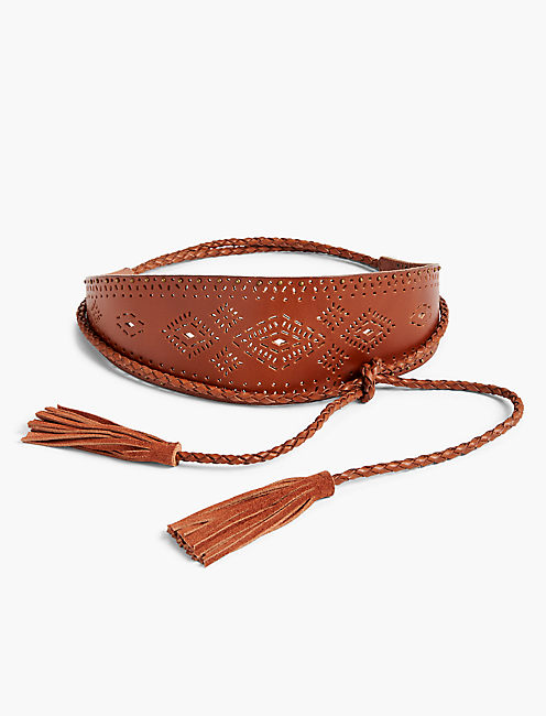 PERFORATED WOVEN BELT,