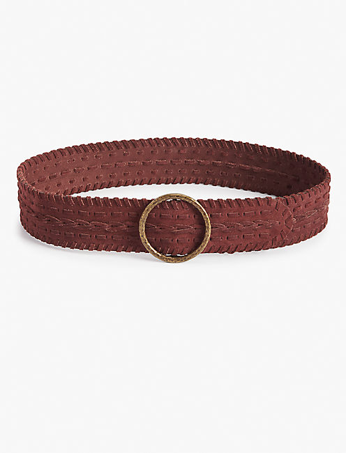 LACED PULL THROUGH BELT,