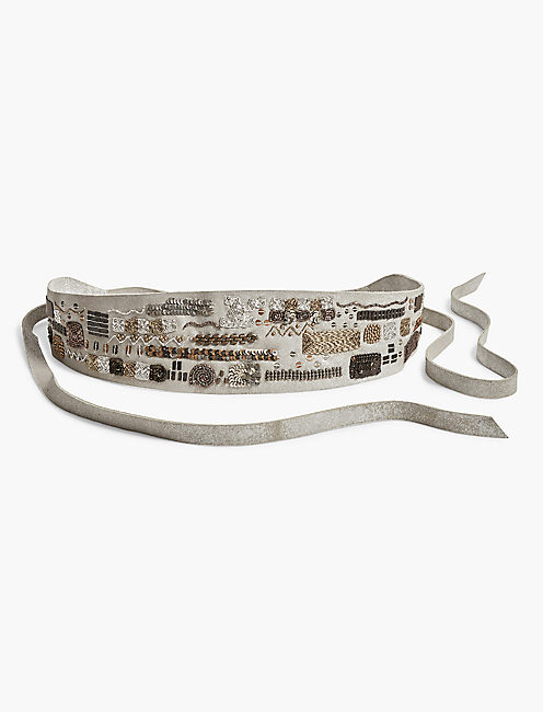 EMBELLISHED METALLIC BELT,