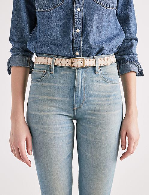 Lucky Serape Embroidered Belt
