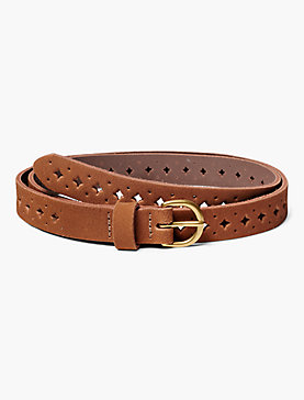 SUEDE PERFORATED BELT