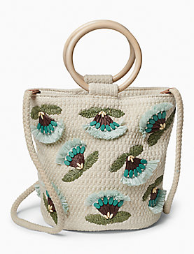 RAFFIA FLOWER CROSSBODY