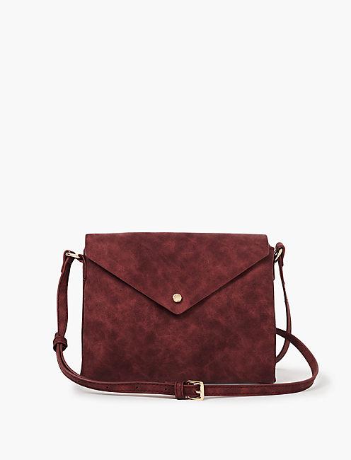 Envelope Crossbody Bag Dark Red