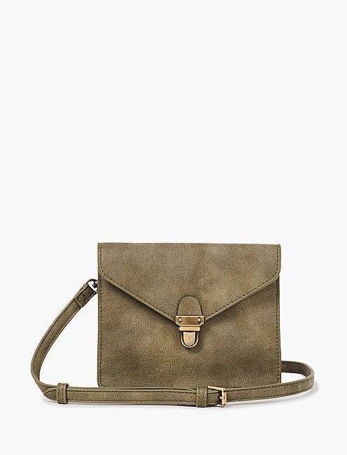 Vegan Leather Small Envelope Crossbody Bag