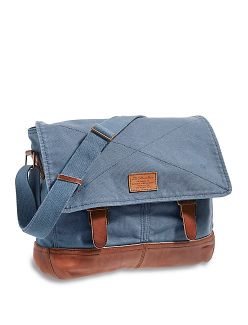 LB COLLECTIBLES MESSENGER, MEDIUM DARK BLUE