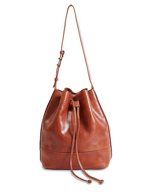 THE POINT DRAWSTRING BAG, COGNAC