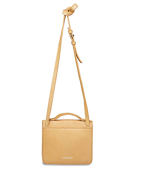 RILEY CROSSBODY, LIGHT BROWN