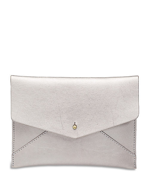 ENVELOPE POUCH, PEWTER