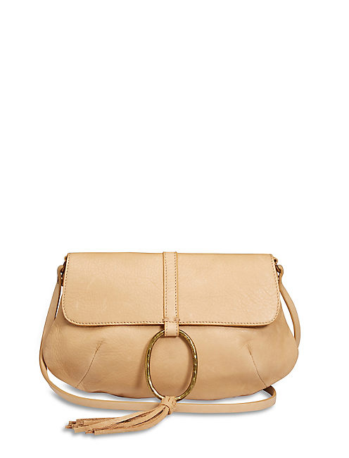 RING CLUTCH, LIGHT BROWN