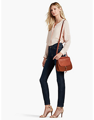 LUCKY POINT SUEDE & LEATHER CROSSBODY