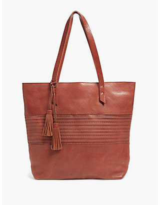 LUCKY EMBOSSED POINT TOTE