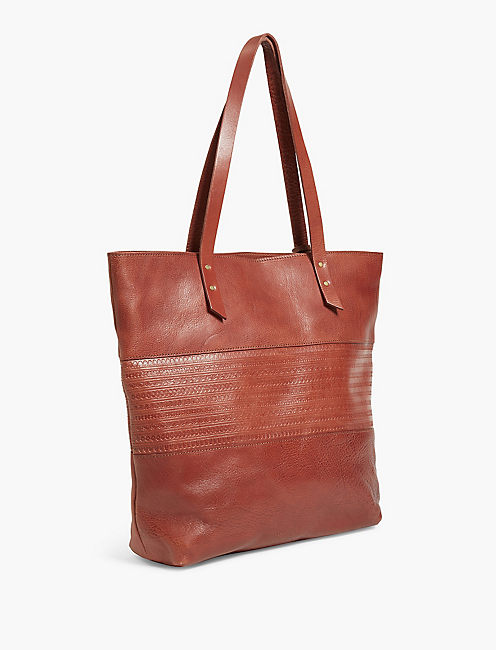 EMBOSSED POINT TOTE,