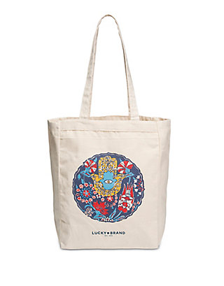 LUCKY HAMSA CANVAS BAG